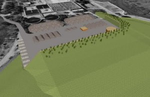Visualization of the proposed anaerobic composting facility