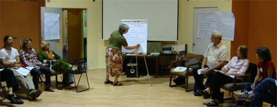 "Debbie Mytels recording ""cultural messages."""