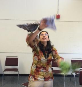 juggling scarves